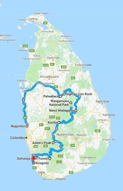 Sri Lanka Map Mtb Club München Ev